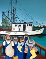 <h5>Shrimp boat 4x6 refrigerator magnet signed shipping and handling included </h5><p>$11.99</p>